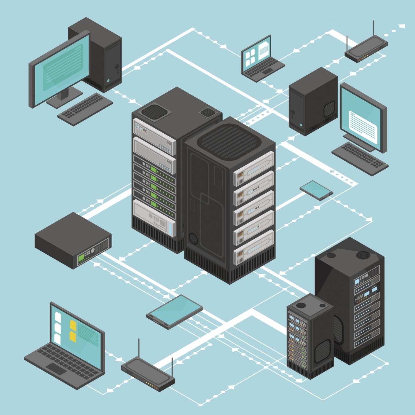 As Virtline we offer network implementation for companies