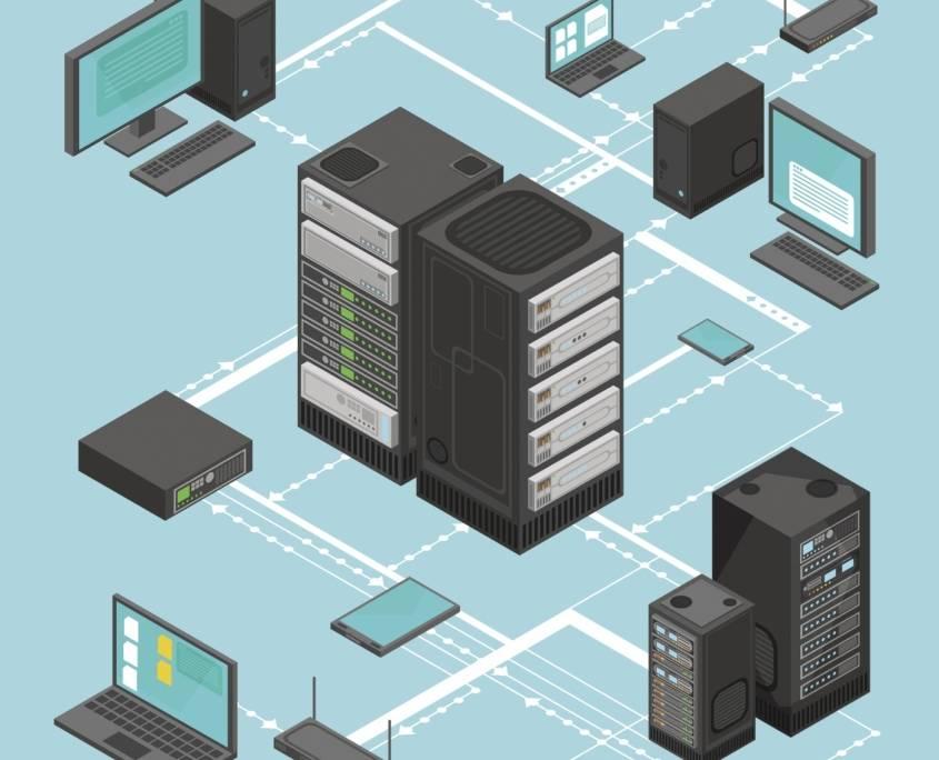Implementacja sieci informatycznej to szeroki proces, na który składa się zaprojektowanie sieci, zakup sprzętu oraz jego konfiguracja i wdrożenie.